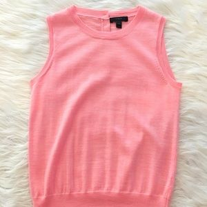 J. Crew Sweaters - J. Crew pink Jackie sleeveless sweater shell XS